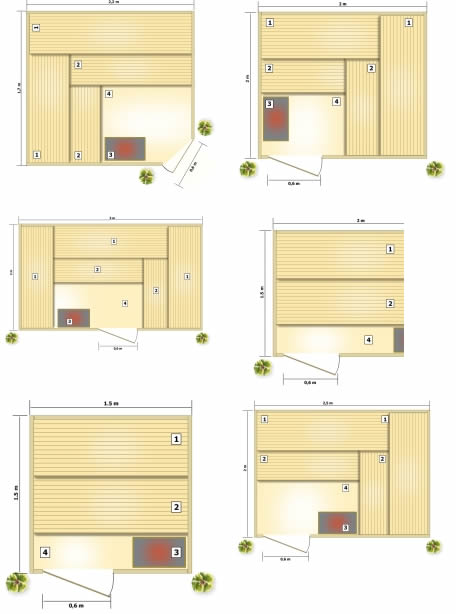 Echipare saune modulare standard