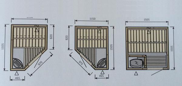 Modele saune modulare standard