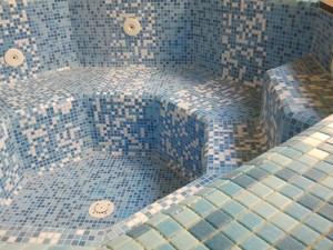 Spa rustic detaliu mozaic