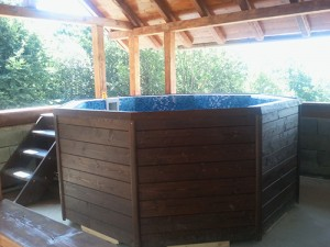 Spa rustic vedere din lateral